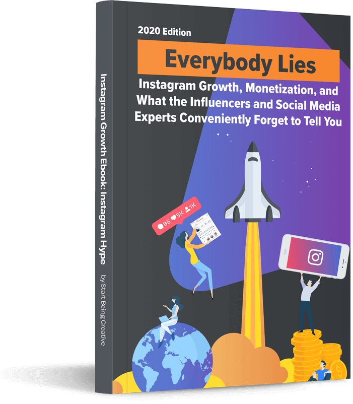 real-instagram-growth-how-to-get-more-followers-instagram-2020-ebook-start-being-creative